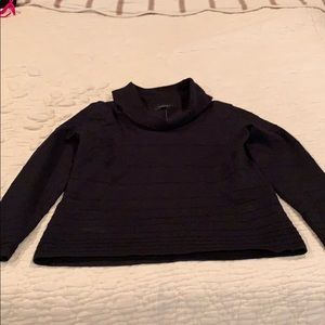NWOT Black lightweight sweater with cowl neck